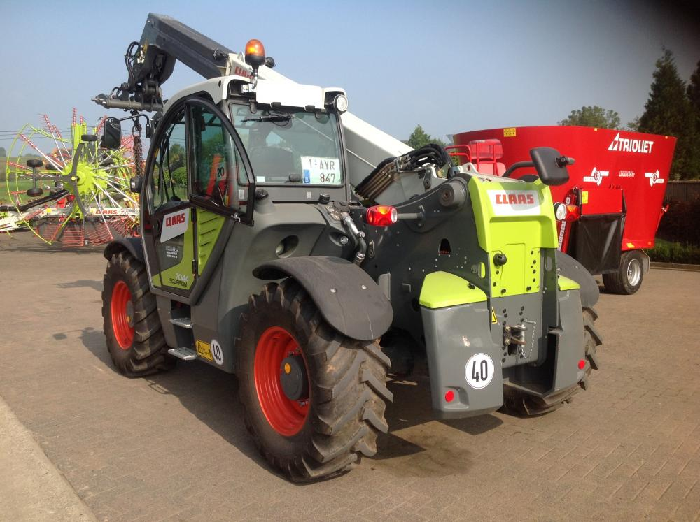 télescopique, claas, scorpion, 6030, chargeur, michelin,